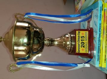 Governor's Debate Cup won by EBHS 2015